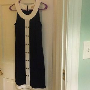 Michael Kors Blue and White Dress
